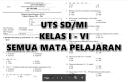 Kumpulan Soal UTS Lengkap Kelas 1 2 3 4 5 6 SD/MI Semua Mata Pelajaran