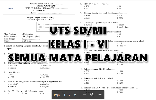 download-soal-uts-sd-lengkap