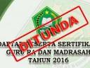 [INFO PENTING] Pelaksanaan Sertifikasi Guru Madrasah Tahun 2016 Ditunda