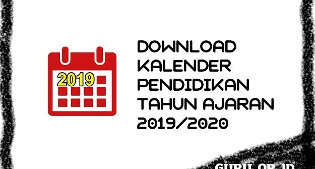 kalender pendidikan sekolah 2019 2020