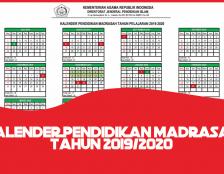 kalender pendidikan madrasah 2019 2020