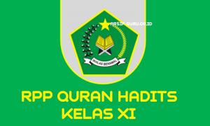 RPP QURAN HADITS KELAS XI
