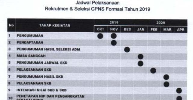 jadwal pendaftaran cpns 2019