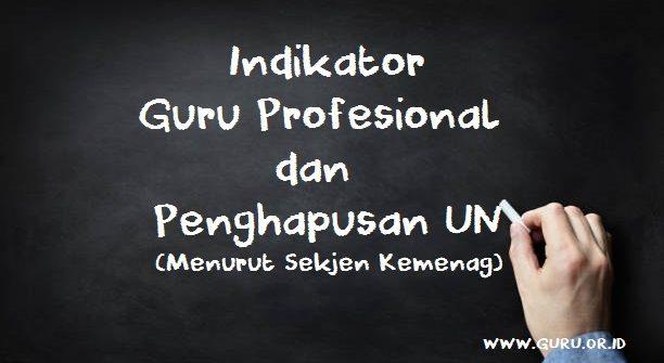 indikator guru profesional