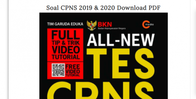 download soal cpns pdf